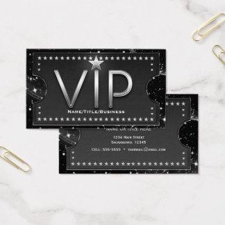 Black & Silver Chic Glam VIP Custom Ticket