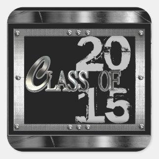 Black  & Silver Class Of 2015 Graduation Stickers