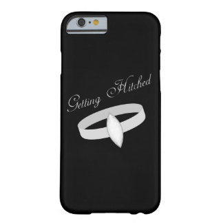 Black Silver Diamond Wedding Ring Getting Hitched Barely There iPhone 6 Case