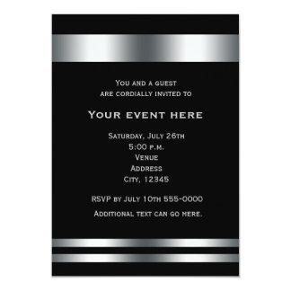 Black Silver Elegant Dinner Party Event Invitation