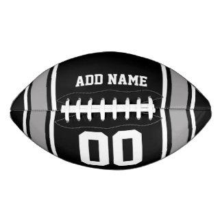 Black Silver Football Jersey Stripes