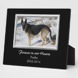 Black Silver Frame Pet Memorial Template Plaque
