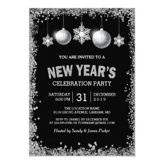 New Years Eve Invitations & Announcements | Zazzle