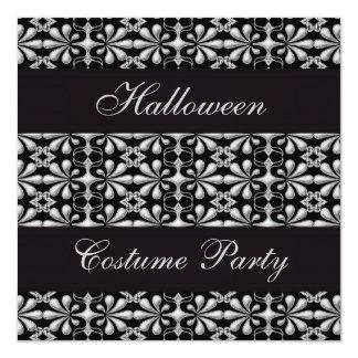 Black & Silver Gothic Elegance Halloween Party Card