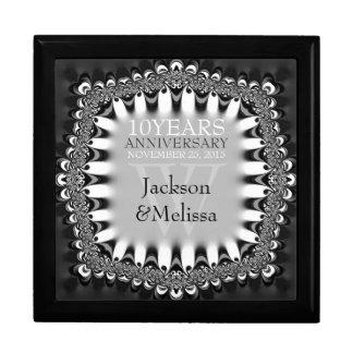 Black+Silver Lace Wedding Anniversary Gift Box