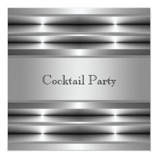 Black Silver Mans 30th Birthday Party Card