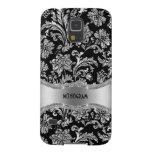 Black & Silver Metallic Floral Damasks-Customized Galaxy Nexus Cases