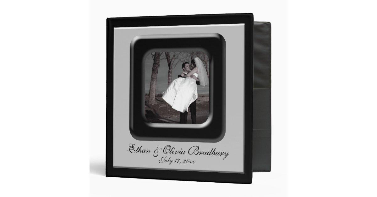 black  u0026 silver photo frame wedding album 3 ring binder