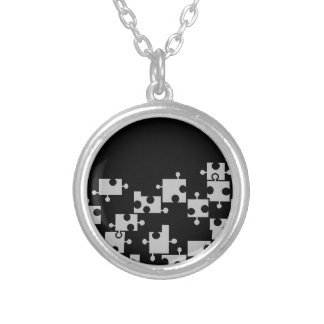 Black & Silver Puzzle Necklace - by Fern Savannah