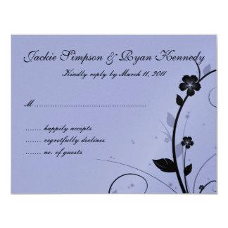 Black & Silver RSVP Card Floral Wall Mauve
