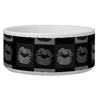 Black Silver Sassy Lips Bowl