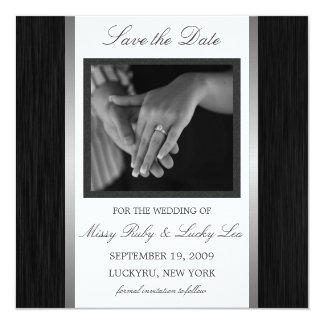 Black & Silver Save the Date Announcement