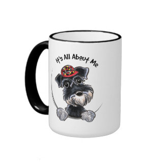 Black Silver Schnauzer IAAM Ringer Mug
