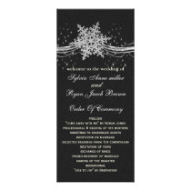 black Silver Snowflakes wedding programs length
