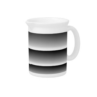 Black Silver Stripes Drink Pitchers