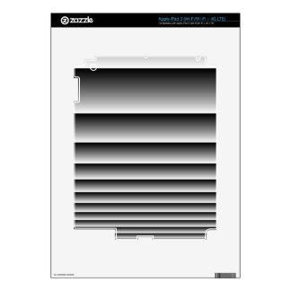 Black Silver Stripes iPad 3 Skin