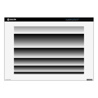 Black Silver Stripes Laptop Skin
