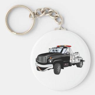 Black Silver Tow Truck Cartoon Keychain