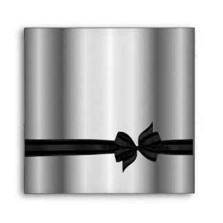 Black & Silver Tuxedo Bow Envelopes