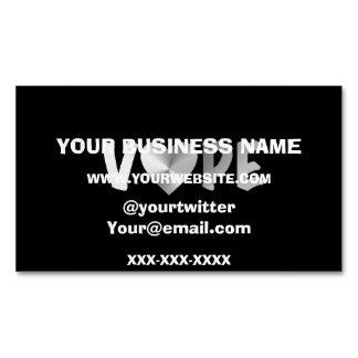 Black Silver Vape Heart Magnetic Business Card