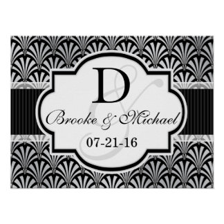 Black & Silver Vintage Art Deco Wedding Posters