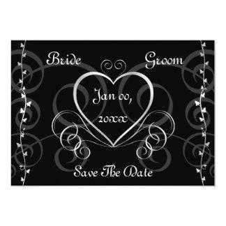 Black & Silver Wedding Invitation