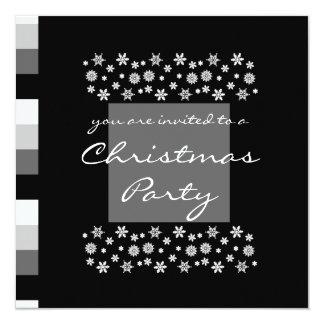Black Silver White Christmas Party Invitation 2