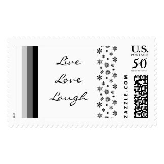 Black Silver White Christmas US Postage Stamp 2