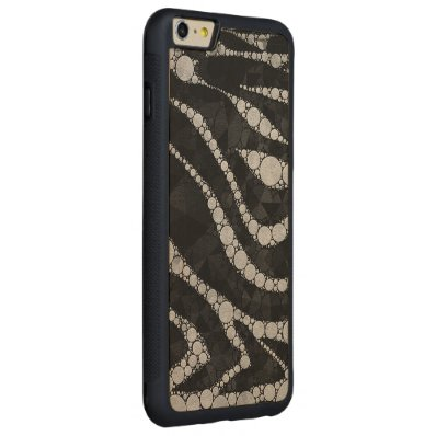 Black Silver Zebra Abstract Texture Carved® Maple iPhone 6 Plus Bumper