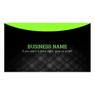 Black Simple Business Cards with Slogans