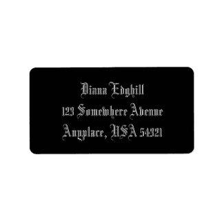 Black Simple Plain Address Labels