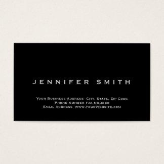 Black Simple Plain Standard Size Business Card