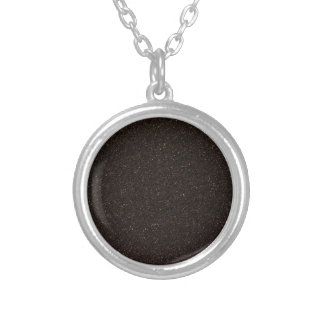 Black Skateboard Griptape Silver Plated Necklace