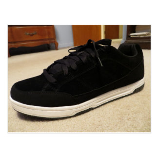 Black Skateboard Shoe Postcard