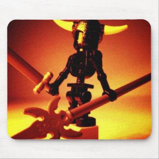 Black Skeleton with Viking Helmet Custom Minifig Mouse Pad