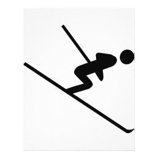black ski-jumping icon flyer