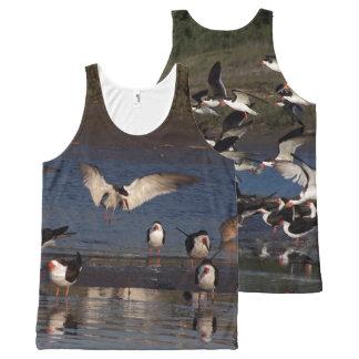 Black Skimmer Birds Wildlife Animals Wetlands All-Over Print Tank Top