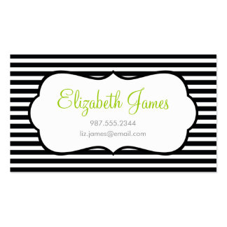 Black Skinny Stripe Double-Sided Standard Business Cards (Pack Of 100)