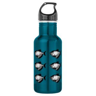 Black Skirt Tetra Fish 18oz Water Bottle