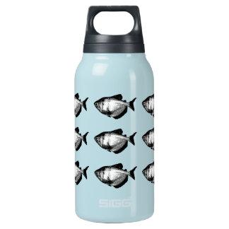 Black Skirt Tetra Fish Insulated Water Bottle