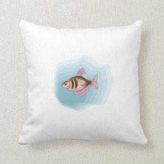 Black Skirt Tetra Fish Throw Pillow