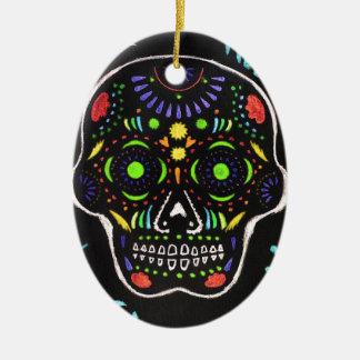 Black Skull 1 Ceramic Ornament