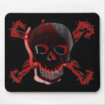 Black Skull & Bloody Cross Bones Mousepads