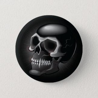 Black skull button