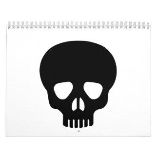 Black skull calendar