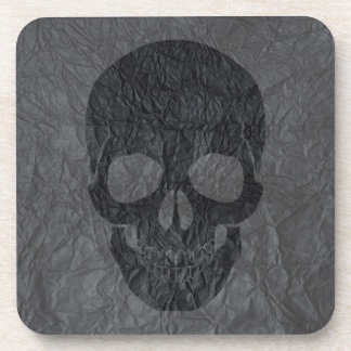 Black Skull Beverage Coaster