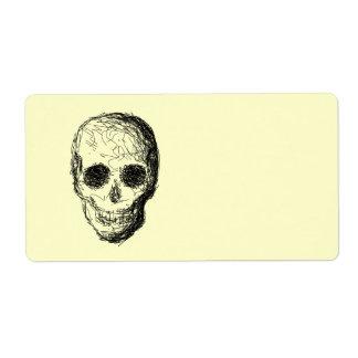 Black Skull. Custom Shipping Label