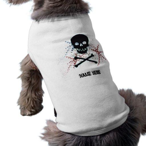 Black Skull doggy Tshirt Pet Clothing