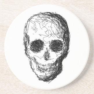 Black Skull. Drink Coaster