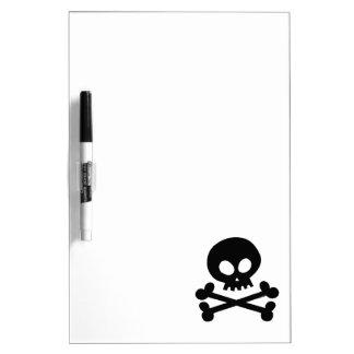Black skull Dry-Erase board